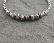 Load image into Gallery viewer, Turkish Silver Beaded Bracelet