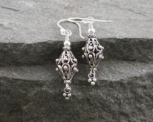 Turkish Sterling Silver Filigree Earrings