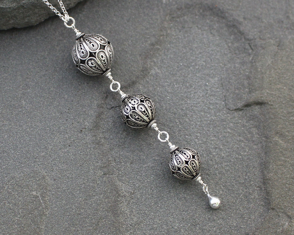 Turkish Filigree Trio Necklace