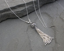 Load image into Gallery viewer, Turkish Silver Filigree Tassel Necklace