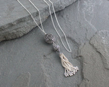 Load image into Gallery viewer, Bali and Turkish Silver Tassel Necklace