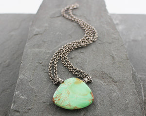 Variscite and Thai Silver Necklace