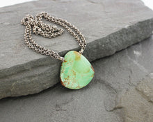 Load image into Gallery viewer, Variscite and Thai Silver Necklace