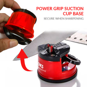 v-sharpener with suction cup