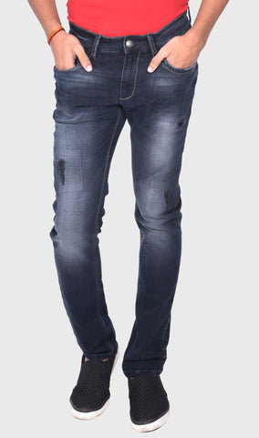 WOVEN KNIT SLIM FIT MEN'S BLUE DENIM