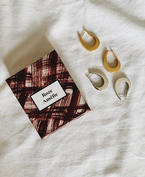 Roze Amélie sterling silver vintage inspired statement hoops with jewellery box designed with Ana Vidigal