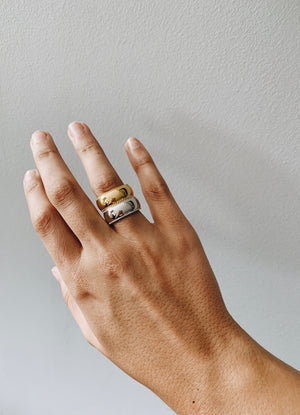 Gold plated big statement ring