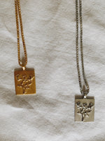 Sterling silver and gold plated roses pendant necklaces