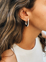 Vintage statement hoops made of sterling silver designed by Roze Amélie
