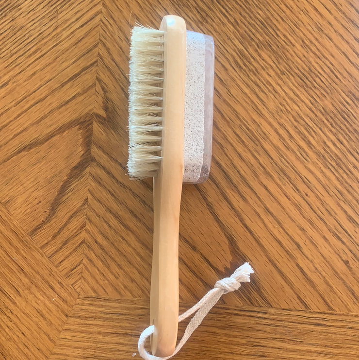 Wooden Pumice Brush-Yogurt Glamour Skin Care and Soaps