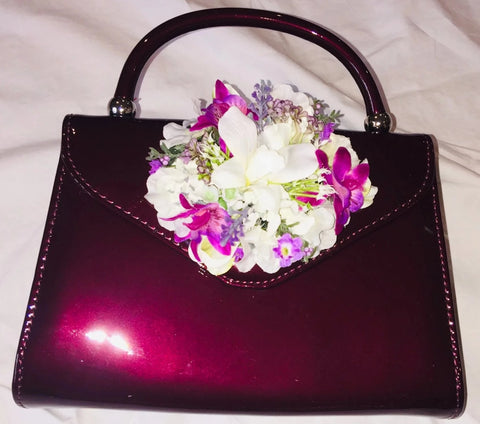 Classic Betty Handbag in Wine - Handmade Vintage Inspired
