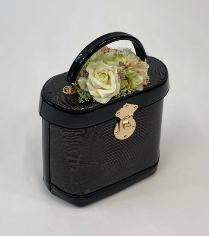 Charlotte Handbag in Black - Handmade Vintage Inspired
