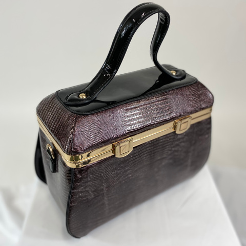 Classic Chloe Handbag in Black Copper - Vintage Inspired