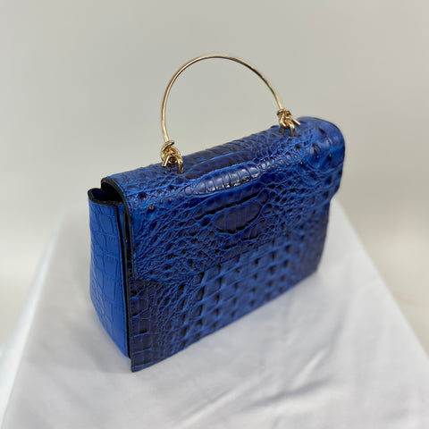 Classic Clara Handbag in French Blue - Vintage Inspired