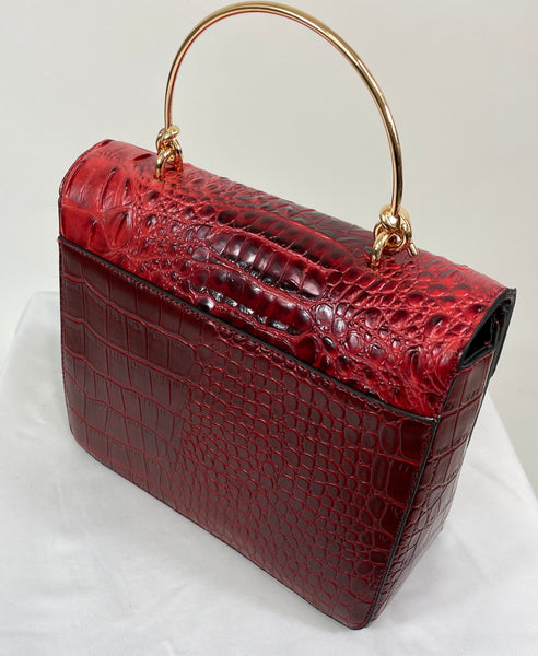 Classic Clara Handbag in Red Velvet - Vintage Inspired