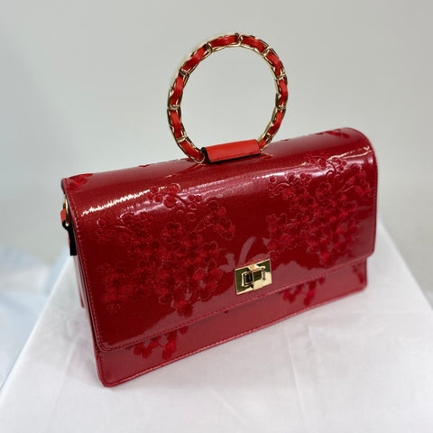 Classic Evie Handbag in Poppy Red - Vintage Inspired