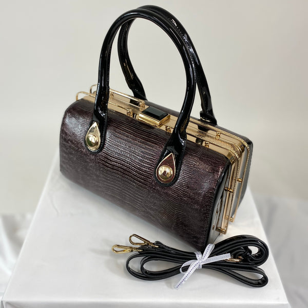 Classic Hollie Handbag in Black Copper - Vintage Inspired
