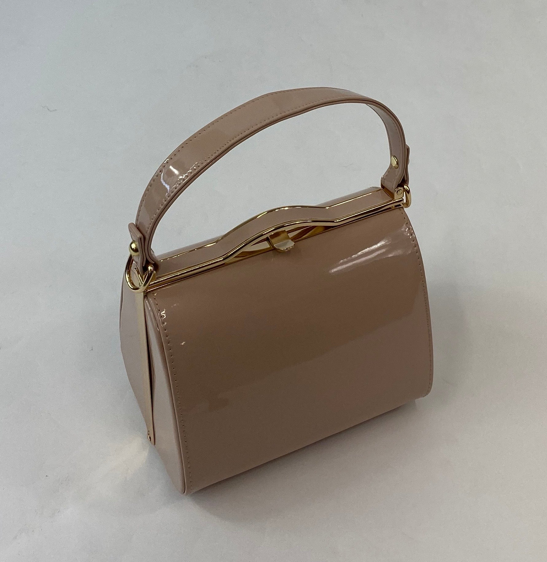 Classic Kelly Handbag in Nude - Vintage Inspired