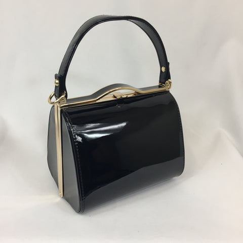 Classic Kelly Handbag in Black - Vintage Inspired