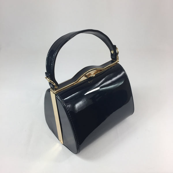 Classic Kelly Handbag in Navy - Vintage Inspired