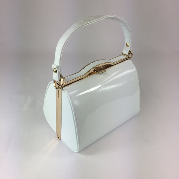 Classic Kelly Handbag in White - Vintage Inspired