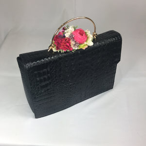 Classic Lauren Handbag in Black - Handmade Vintage Inspired