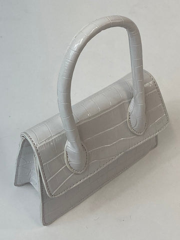 Classic May Purse in White - Vintage Inspired
