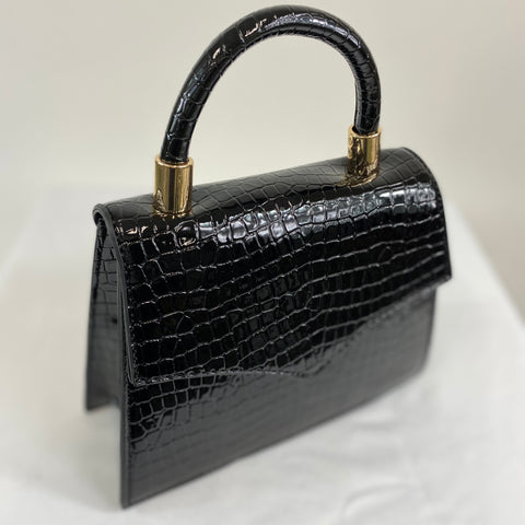 Classic Penny Handbag in Black - Vintage Inspired