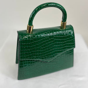 Classic Penny Handbag in Vintage Green - Vintage Inspired