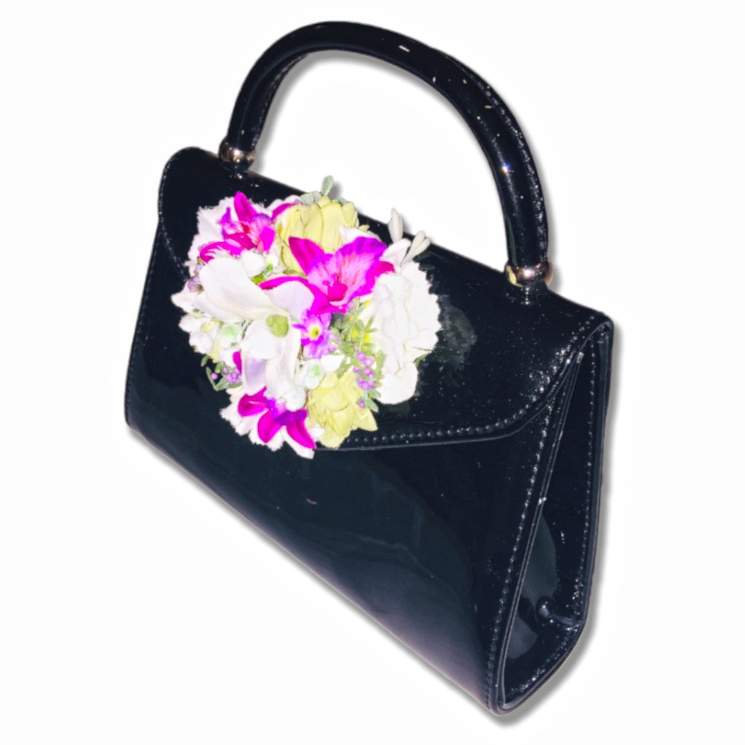 Classic Betty Handbag in Black - Handmade Vintage Inspired