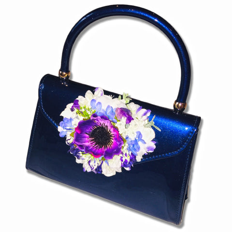 Classic Betty Handbag in French Blue - Handmade Vintage Inspired