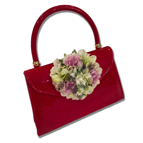 Classic Betty Handbag in Red - Handmade Vintage Inspired