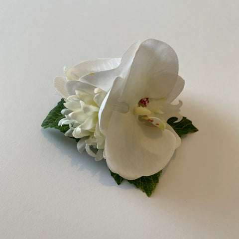Classic Vintage White Orchid & Tuberose Hair Clip