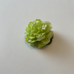 Classic Vintage Green Carnation Hair Clip