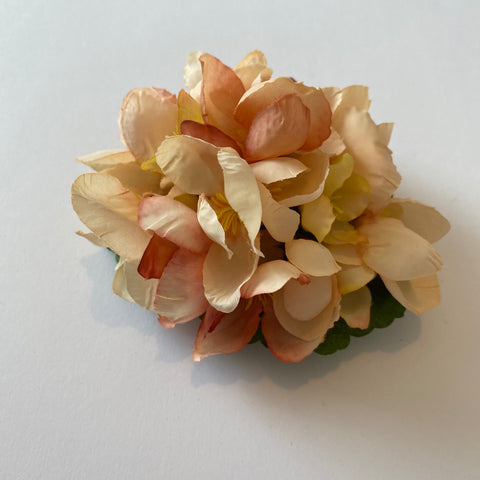 Classic Vintage Peach Quince Blossom Hair Clip