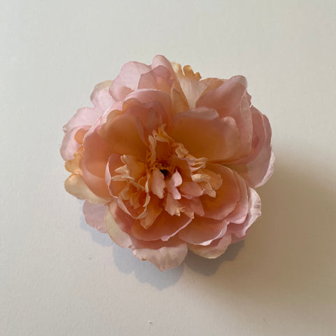 Classic Vintage Pink Peony Hair Clip