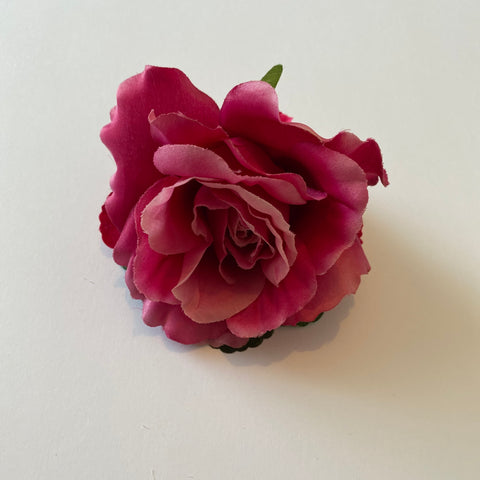 Classic Vintage Pink Rose & Hydrangea Hair Clip