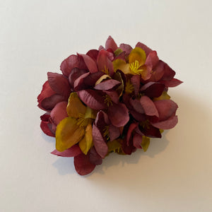 Classic Vintage Burgundy Quince Blossom Hair Clip
