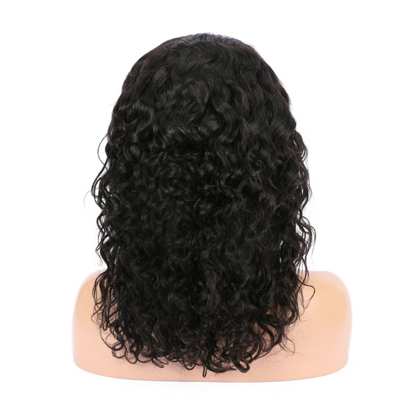 Water wave hairstyle 6 inch frontal lace wig - Vinuss fashion hair