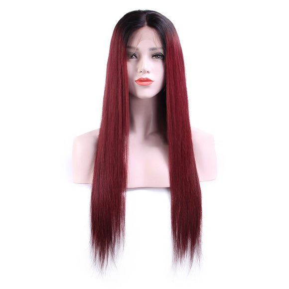 99J color color front lace wig 100% human hair - Vinuss fashion hair