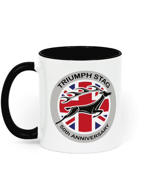 Triumph Stag 50th Anniversary Two Toned Ceramic Mug