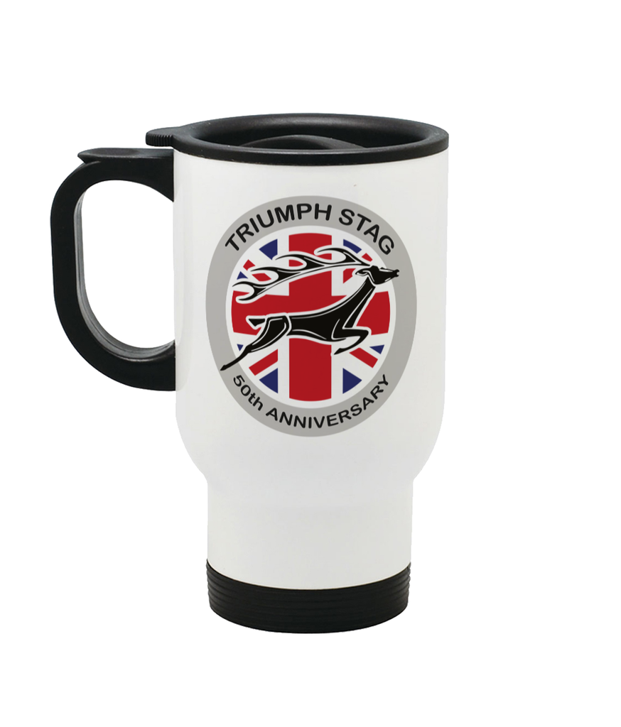 Triumph Stag 50th Anniversary Stainless Steel Travel Mug