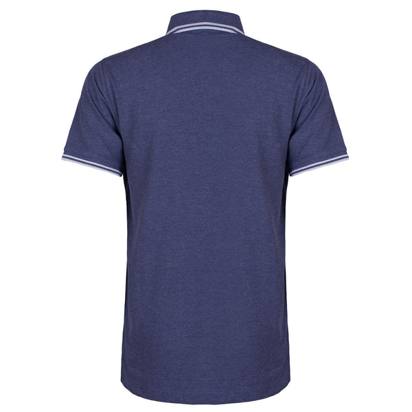 Contrast Polo with SOC Logo - Navy Blue/Grey