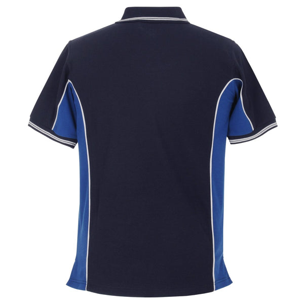 Elite Polo with SOC Logo - Navy Blue/Royal Blue