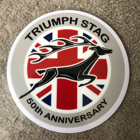 Triumph Stag 50th Anniversary Windscreen Sticker