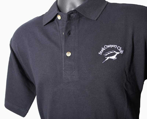 Navy Blue Polo Shirt with embroidered SOC Logo