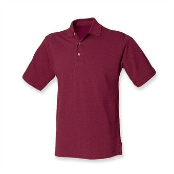 Burgundy Polo Shirt with embroidered SOC Logo