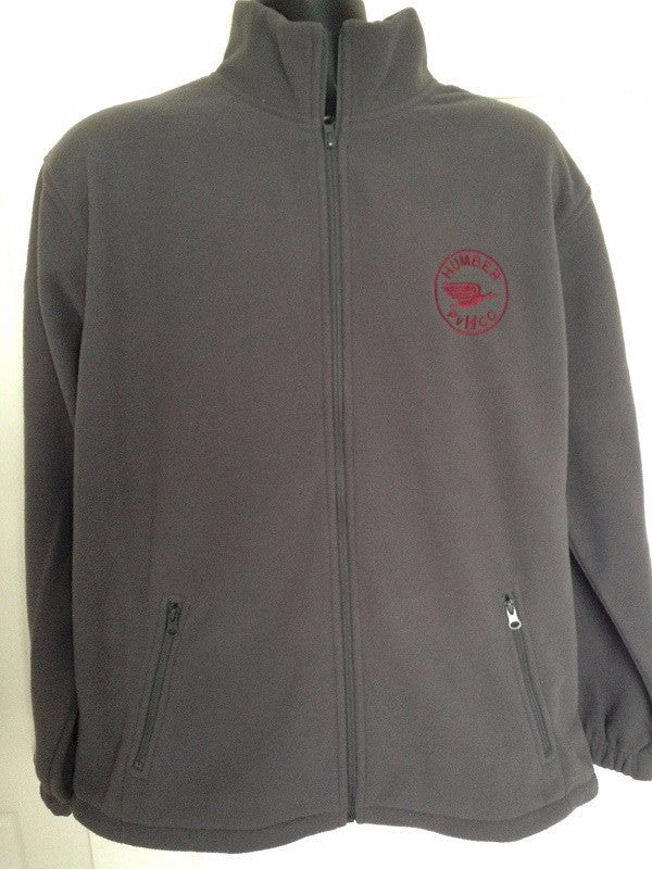 Charcoal Full-Zip Fleece with embroidered Humber Club logo