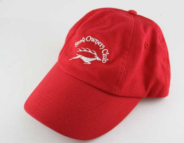 Low Profile Baseball Cap with SOC Logo - Red