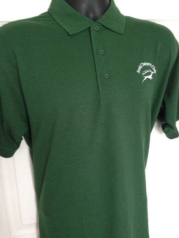 Bottle Green Polo with SOC Logo